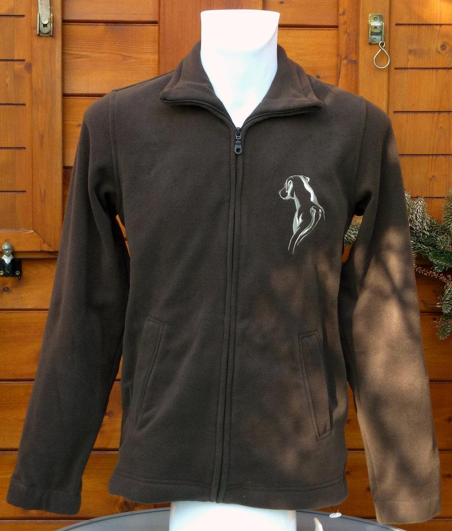 Herren Fleece Jacke Braun Ridgeback Logo 2