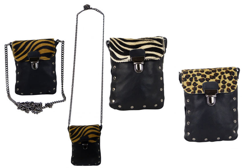 kleine damen handtasche umh ngetasche mit kuhfell rr. Black Bedroom Furniture Sets. Home Design Ideas