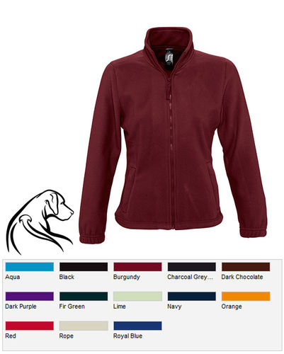 Damen Fleece-Jacke Ridgeback Logo 5
