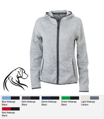 Damen Fleece-Hoody Ridgeback Logo 5
